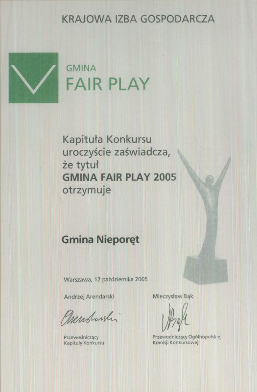 Gmina Fair Play 2005