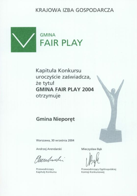Gmina Fair Play 2004
