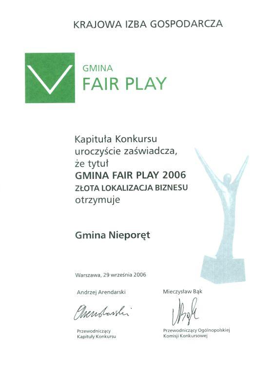 Gmina Fair Play 2006