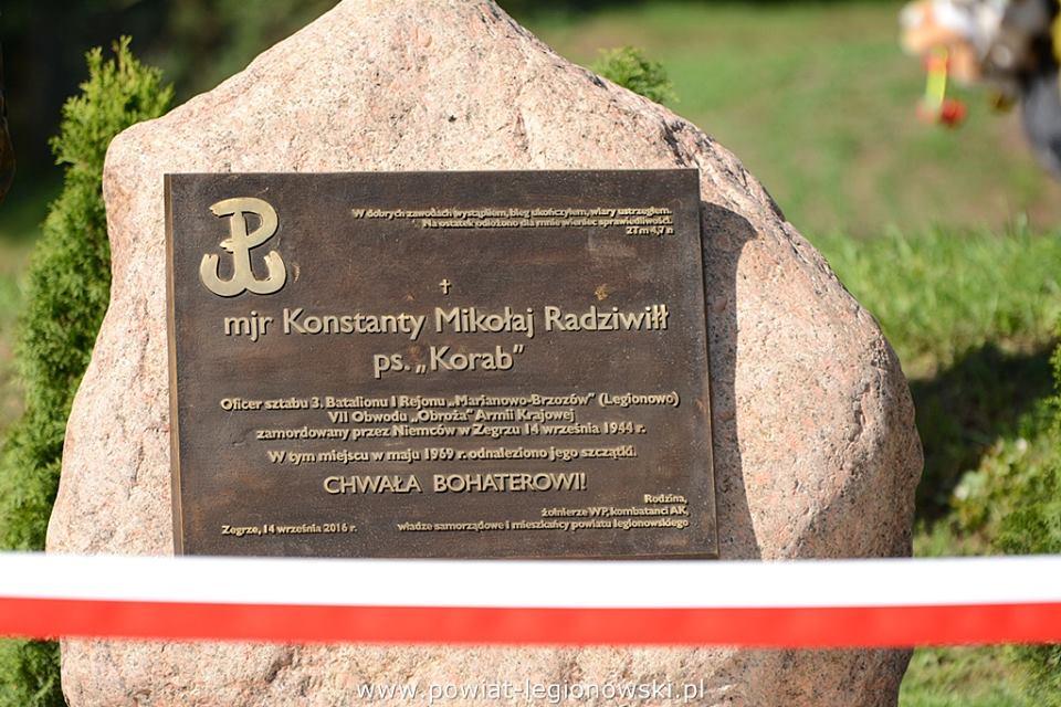 tablica mjr. Radziwiłła