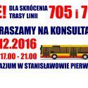 Konsultacje w sprawie linii 705 i 735