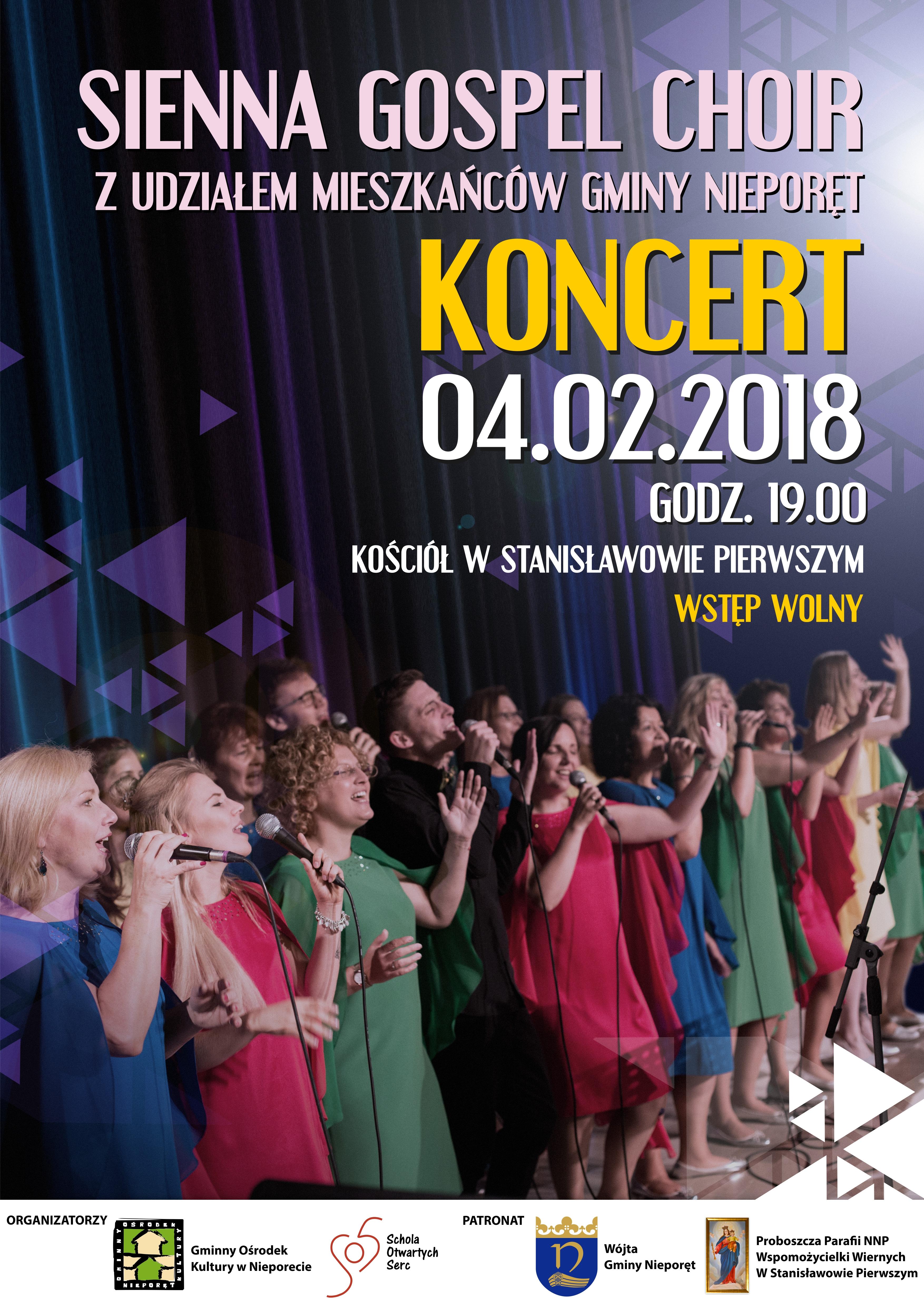 gospel plakat koncert