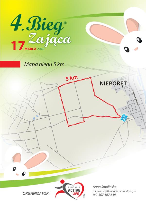 BIEG ZAJ¥CA 4 - Trasa biegu 5 km