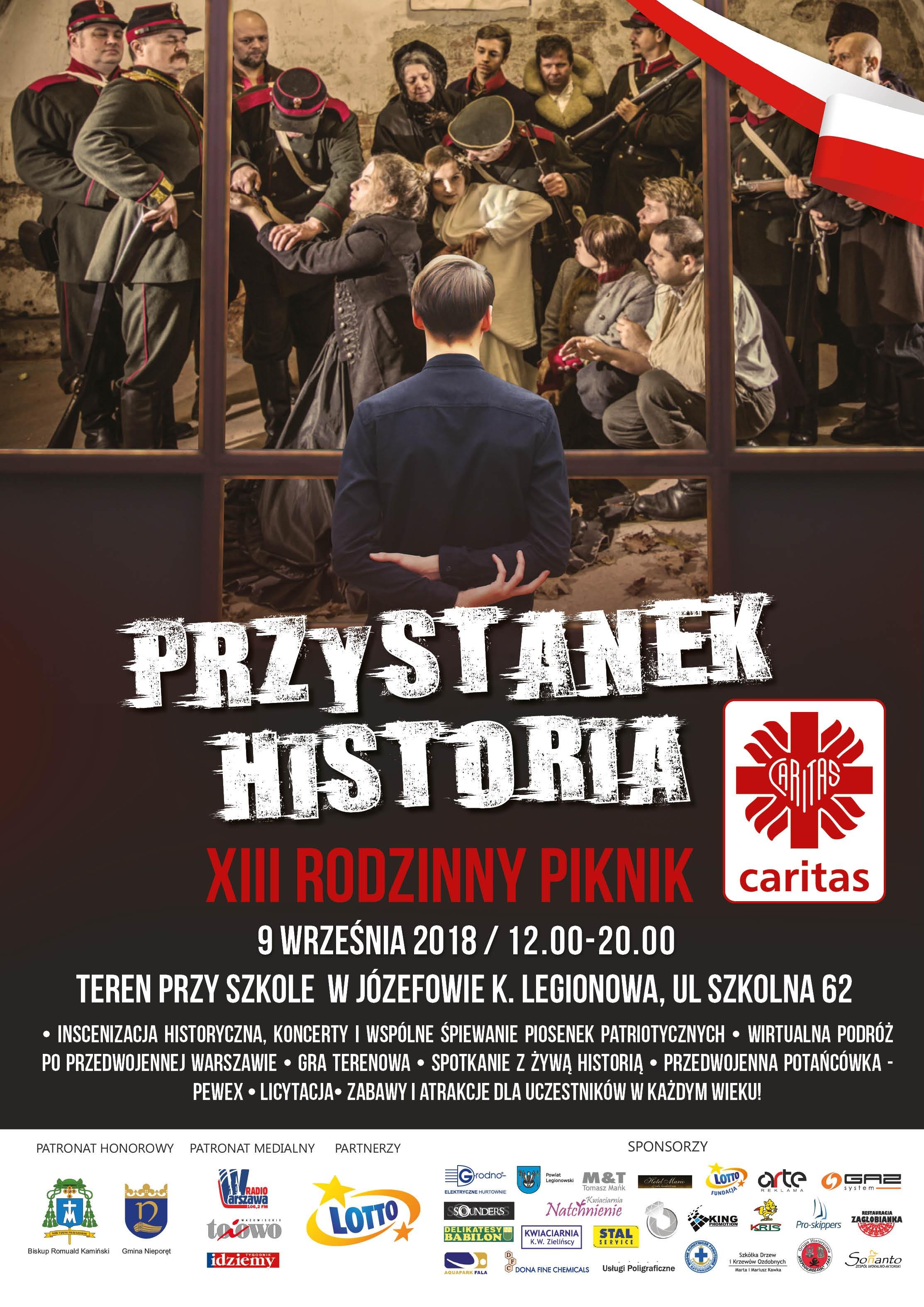 Plakat piknik Caritas