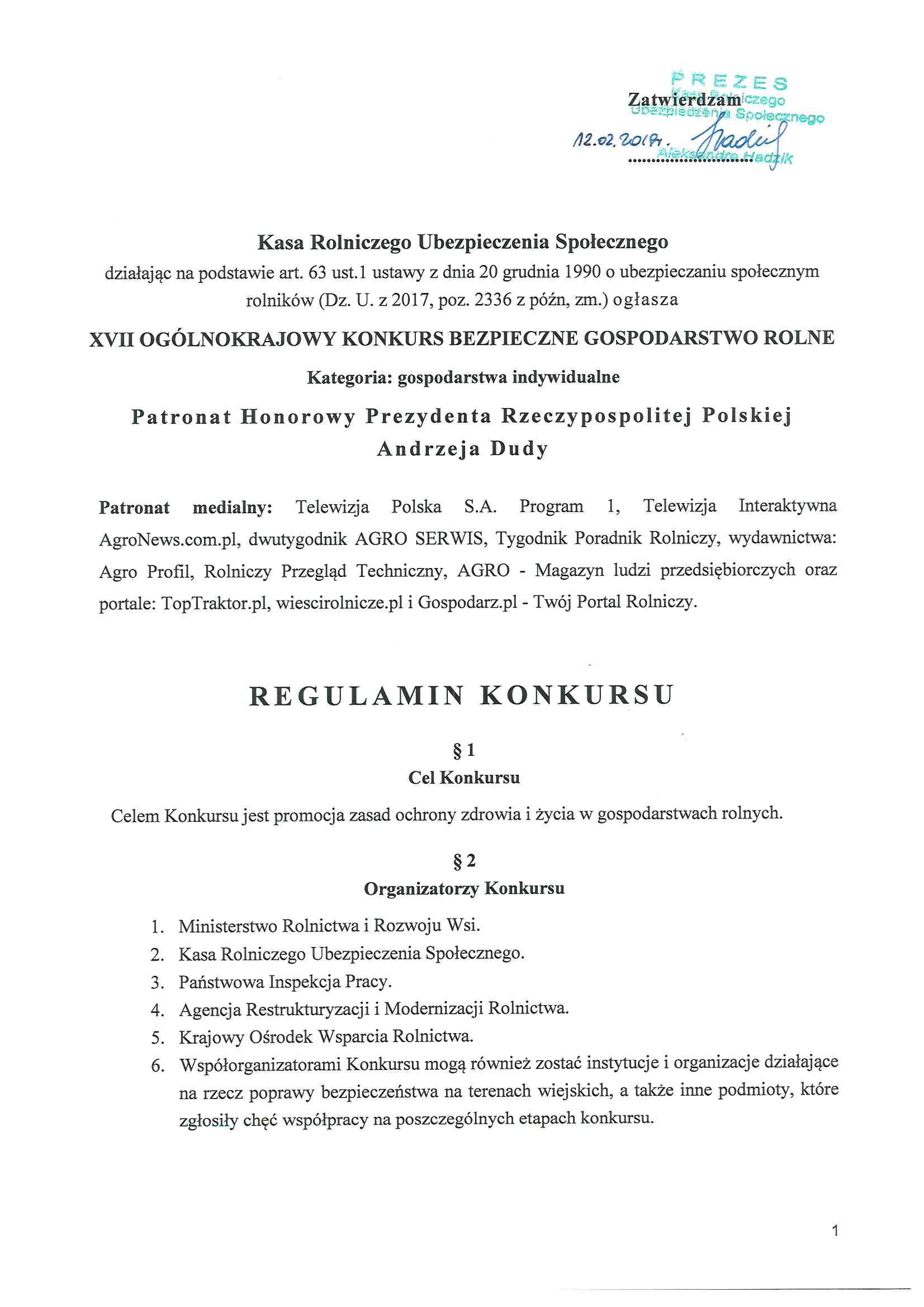 1. Regulamin XVII Konkursu BGR 2019-01